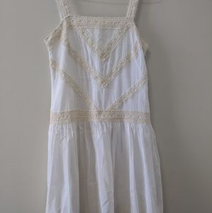White dress with lace accents